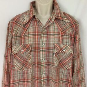 Vintage Levi Strauss Western Pearl Snap Shirt